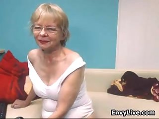 Naughty grandma strips