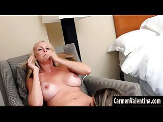Big Tit Mature Blonde Slut Eats Carmen� Valentina Juicy Pussy