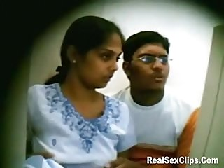 Indian couple caught on hidden camera fooling around
