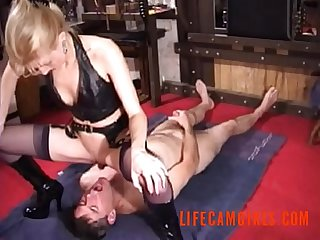 Queen love to piss and spit in the mouth of her slave www lifecamgirls com