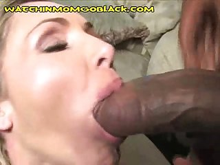 Black Load in Mom's Mouth