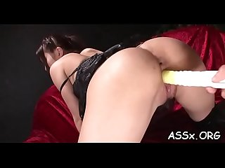 Cute asian receives lusty shaving previous to deep anal drilling
