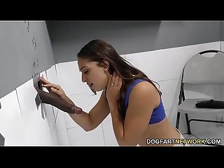 Bbc slut sara luvv visits gloryhole