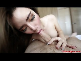 Hello ladyboy hot thai ladyboy gives white tourist a blowjob