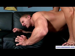 Muscled straight dude trades anal sex