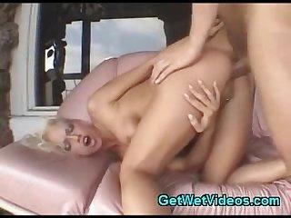 Naughty blonde hardcore anal