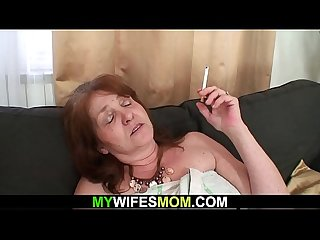 Busty m. inlaw f. to suck and ride his cock