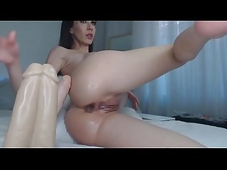 Hottest Brunette Camslut Fucks Her Butt With A Dildo - ipussycams.com