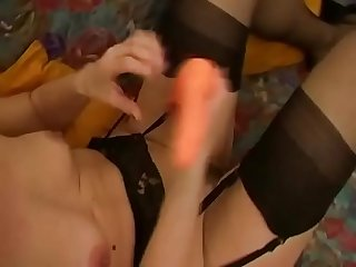 Horny masked amateur