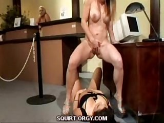 Squirting lesbians at bank