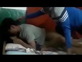 Nepali bhalu gangbang in hotel