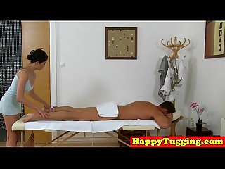 Busty asian masseuse enjoys clients spunk