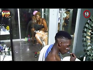 Big brother africa hotshots shower hour goitse butterphly sipe luis