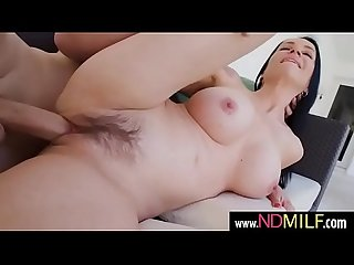 Angienoir hot brunette milf hard banged from behind