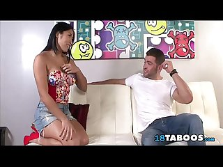 Mia li helps her stepbrother prepare for a date with a handjob