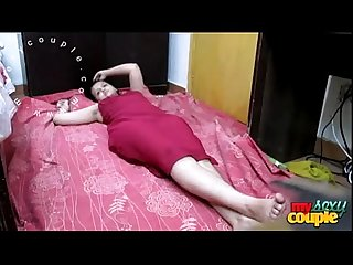 Indian housewife sonia Bhabhi in red nighty waiting for you