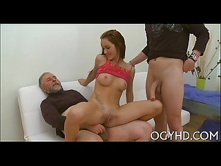 Petite youthful vixen rides old one eyed monster
