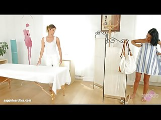 Sensual lesbian scene by sapphix with mira sunset and Vivien bell sapphic mass