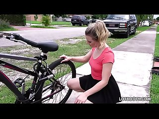 Big ass horny bicyclist aubrey sinclair gets fucked