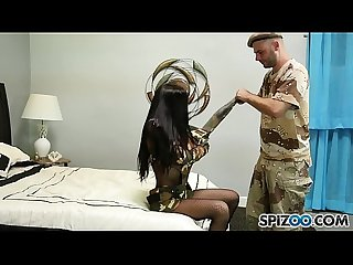 Spizoo - Amia Miley gets fucked by a huge cock