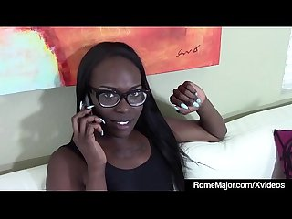 BBC Rome Major Shares Ebony Bella Doll With 2 White Dicks!