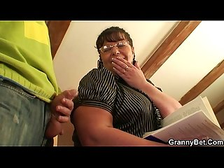 Chubby lady jumps on cock after blowjob