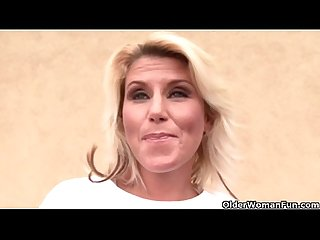 Blonde soccer milf gets facial