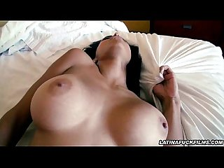 Fucked big titty latina gets a sticky cumshot