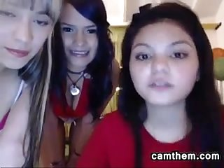 Three latin teen cam girls