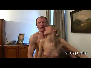 Chick is sucking teacher S cock