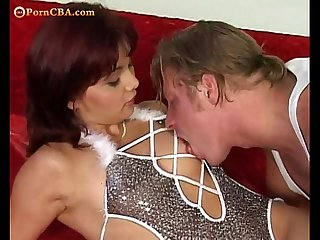 Backdoor attack. Red Hair Milf