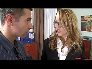Clumsy secretary Kandall N looks for redemption in anal teen fetish fuck