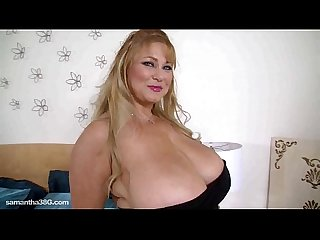 Dirty slut samantha 38g teases her fans shakes her tits