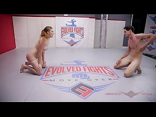 Stephie Staar in Mixed Wrestling Match Controls then Strapon Fucks her opponent