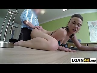 Biker milf fucked in order to get a loan for a new bike