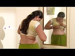 Indiansexy aunty dress changing in bedroom