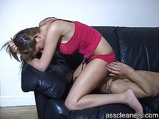 Mistress sits on man s face and explodes nasty air