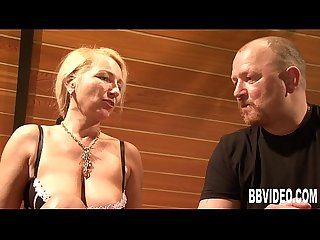 Busty german milf gets double fucked