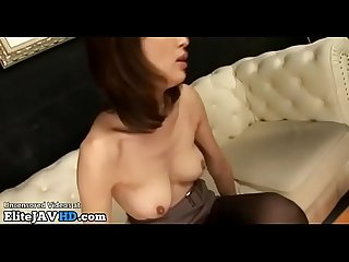 Japanese milf fucked in black nylons more at elitejavhd com