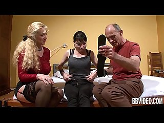 Horny german couple fuck in threesome