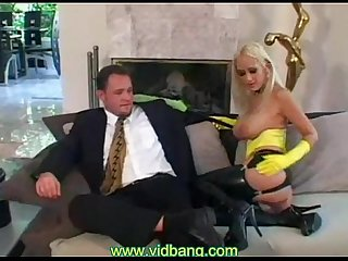 Latex anal blonde babe