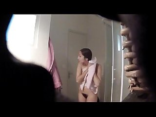Young french teen hidden shower