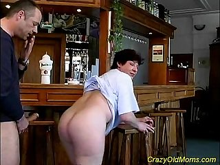 Crazy old mom gets cock fucked