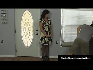 Hubby's Boss Makes Charlee Chase Suck His Dick! WTF?