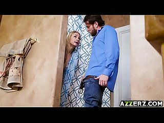 Horny wife Sarah Vandella takes two giant dicks