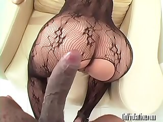 Big Tits Asian Girl Gets Railed by Big Black Cock