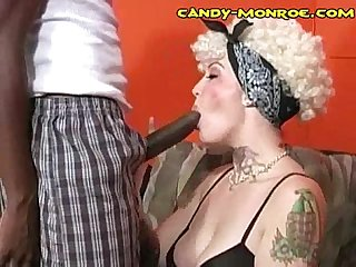 White babe craves Black cock