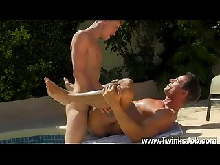 Black gay rimming movieture daddy poolside prick loving