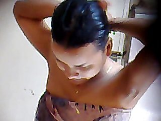Khmer girl take a shower 4