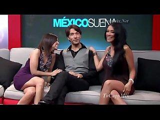 Conductora de televicion mexicana marcando peson - 480P